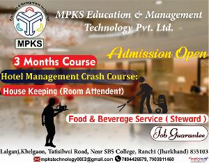 Institute For  Hotel Management Crash Course Ranchi, Lalganj,Khelgaon, Tatisilwai Road, Near SBS College, Ranchi, Jharkhand - 835103, Ranchi, Ranchi, Institutes :: Education